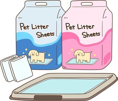 ペット用トイレとシート