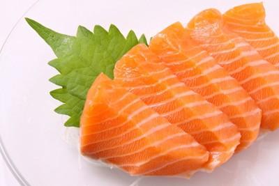鮭の切り身、刺身