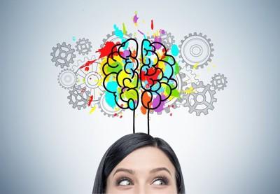 女性と脳のイラスト