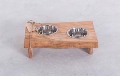 渋い犬の食器台