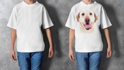 白いTシャツと犬のTシャツ