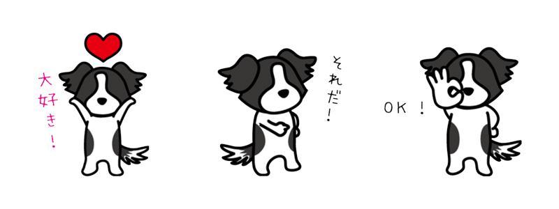 ワンクス ボーダーコリーキャラクター