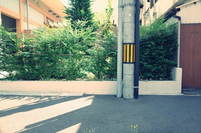 電信柱と歩道
