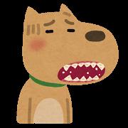 歯がボロボロの犬のイラスト