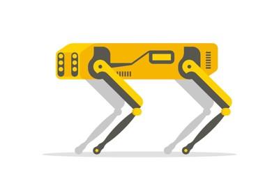 犬型ロボットのイラスト
