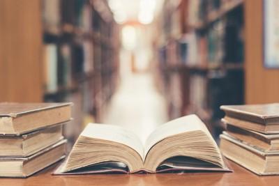 図書館と古い本