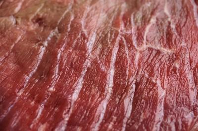 画面いっぱいの肉の切り身