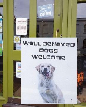 犬歓迎のサイン