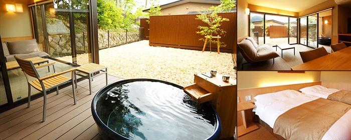 3枚の部屋の写真がセットになっているもの@レジーナリゾート箱根雲外荘