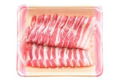 パックに入ったしゃぶしゃぶ用の豚肉