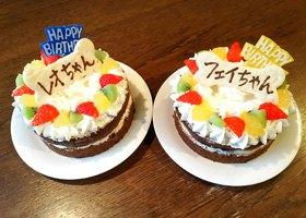 バースデーケーキ写真