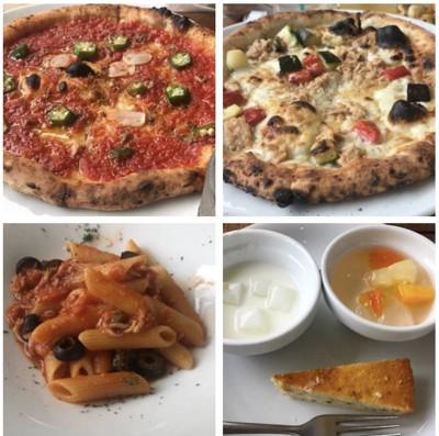 パスタとピッツァとデザート