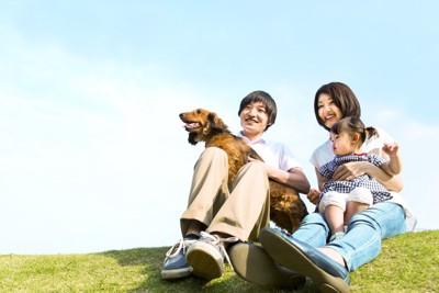 愛犬と家族
