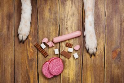 食べてはいけない食材と犬の手