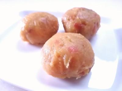 焼き芋と焼きりんごの茶巾絞り