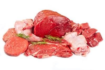 たくさんの肉
