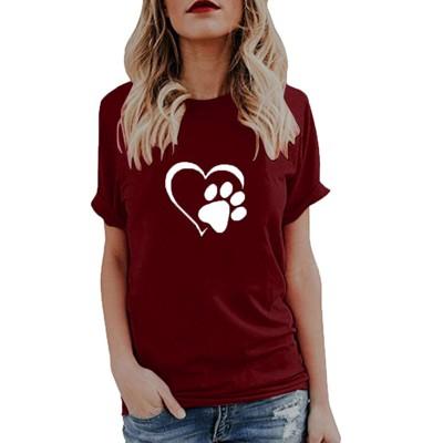 犬の肉球Tシャツ