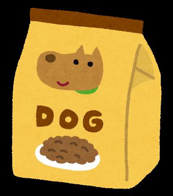 ドッグフード袋のイラスト