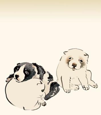 かわいい犬の絵