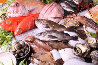 魚介類の盛り合わせ