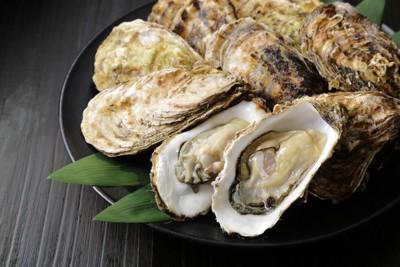 牡蠣のアップ