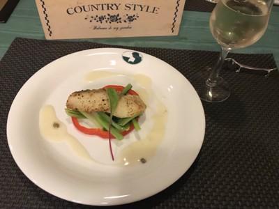 白身魚と白ワイン