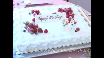 ワンちゃんウェディングケーキ