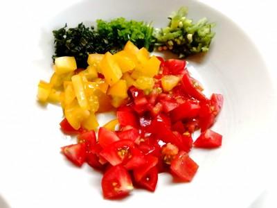 刻んだ野菜