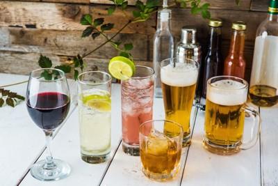 様々な種類のアルコール