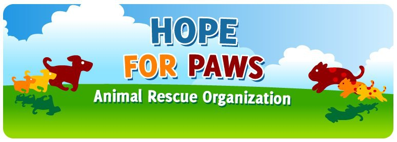 Hope for Pawsのロゴ