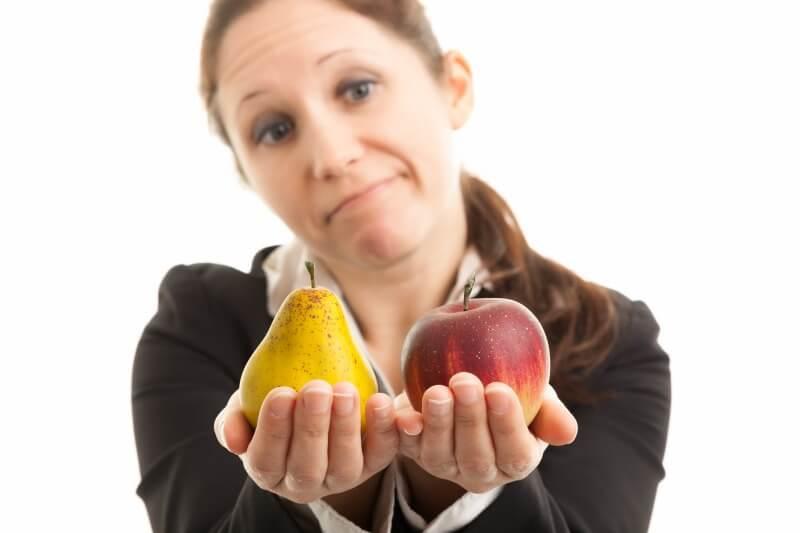 ペット保険会社を果物に見立てて比較する人