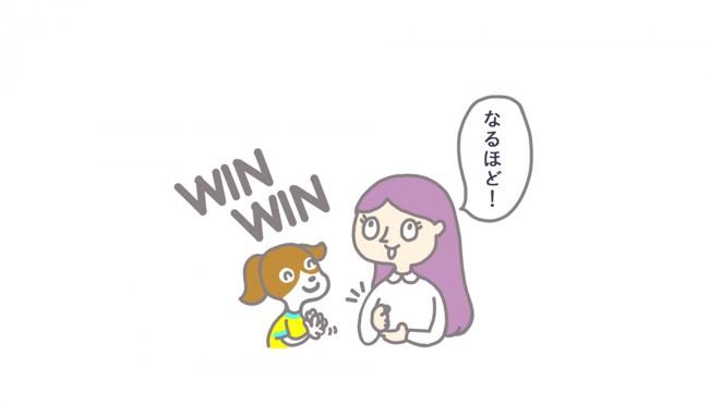 理解する犬と女性