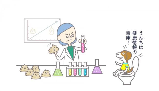腸内フローラの研究のイラスト