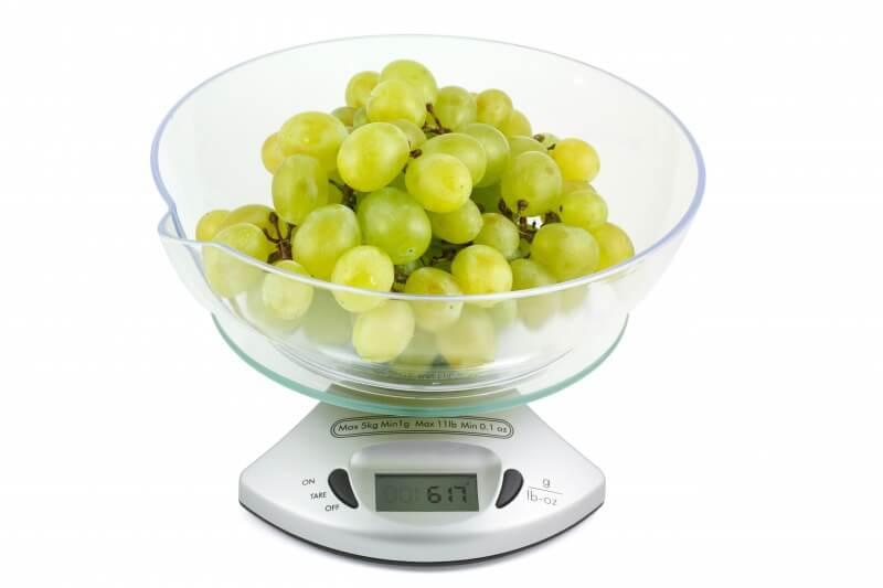 ぶどうの重さを計測